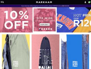 markham.co.za screenshot