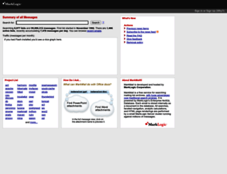 markmail.org screenshot