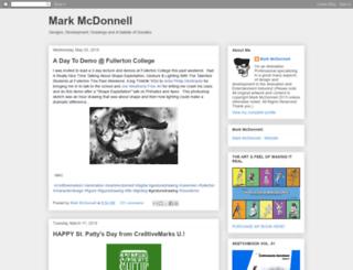 markmcdonnell.blogspot.fr screenshot