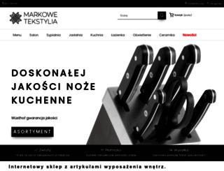 markowetekstylia.pl screenshot