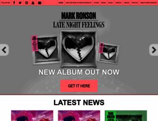 markronson.co.uk screenshot