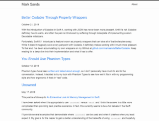 marksands.github.io screenshot