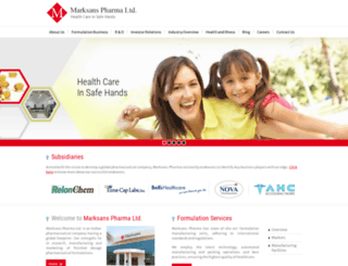marksanspharma.com screenshot