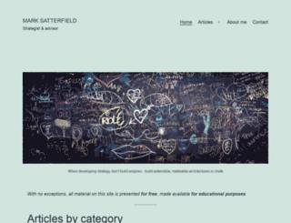 marksatterfield.com screenshot
