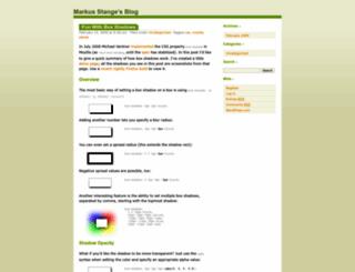 markusstange.wordpress.com screenshot