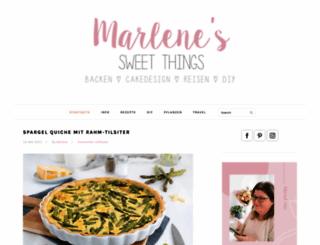 marlenessweetthings.blogspot.de screenshot
