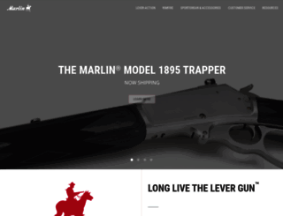 marlinfirearms.com screenshot