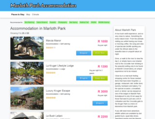 marlothpark.co.za screenshot