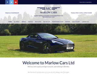 marlowcars.co.uk screenshot