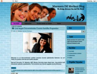 marmaradilmerkezi.blogspot.com screenshot
