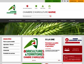marne.chambagri.fr screenshot