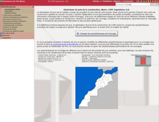 maroc.prix-construction.info screenshot