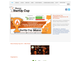 maroc.startupcup.com screenshot
