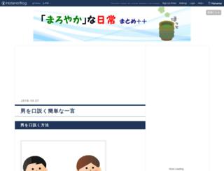 maroyaka-news.hateblo.jp screenshot