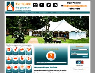 marqueehireguide.com screenshot