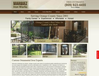 marquezironworks.com screenshot