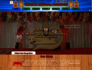 marriagearrangementsintirumala.com screenshot