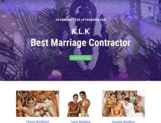 marriagecontractor.in screenshot