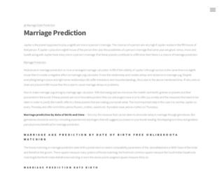 marriagepredictions.com screenshot