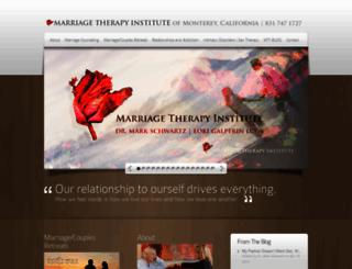 marriagetherapyinstitute.com screenshot