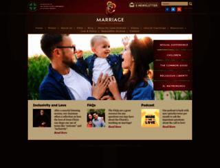 marriageuniqueforareason.org screenshot