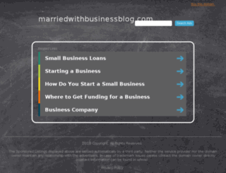 marriedwithbusinessblog.com screenshot
