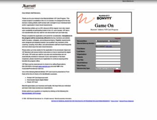 marriottathleticvipprogram.netlinkrg.com screenshot