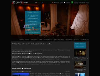 marruecos.riad-vendome-marrakech.com screenshot
