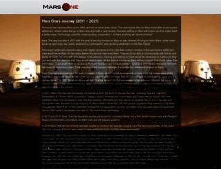 mars-one.com screenshot