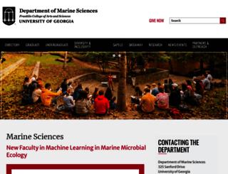 marsci.uga.edu screenshot