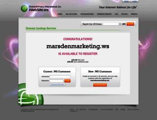 marsdenmarketing.ws screenshot