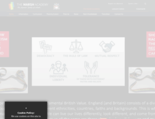 marshacademy.org.uk screenshot