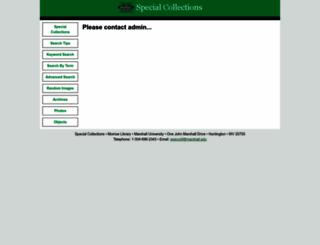 marshall.pastperfectonline.com screenshot