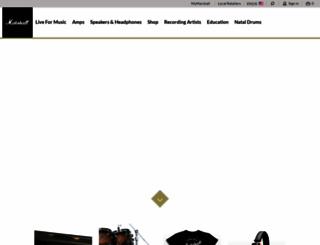 marshallamps.com screenshot