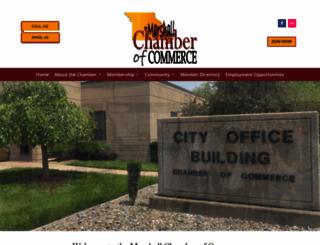 marshallchamber.com screenshot