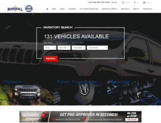 marshallmotor.com screenshot