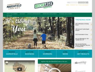 marshfieldchamber.com screenshot