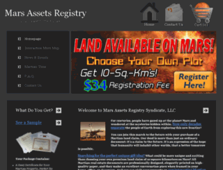 marsregistry.com screenshot