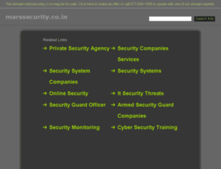 marssecurity.co.in screenshot