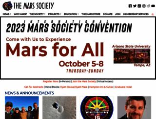 marssociety.org screenshot
