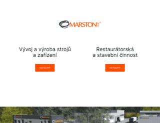 marston.cz screenshot