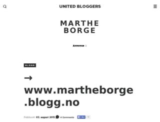 martheborge.no screenshot