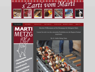 marti-metzg.ch screenshot