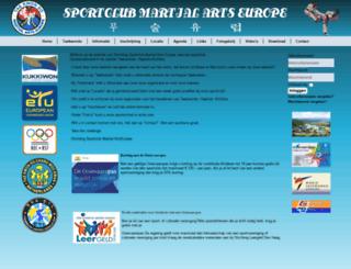 martialartseurope.nl screenshot