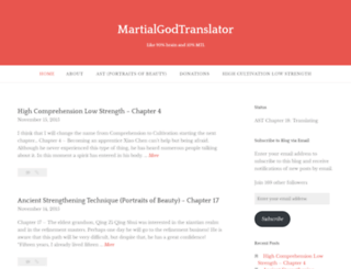 martialgodtranslator.wordpress.com screenshot