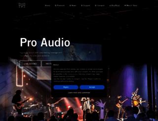 martin-audio.com screenshot