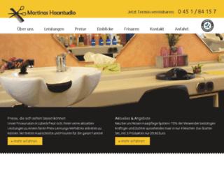 martinas-haarstudio-luebeck.de screenshot