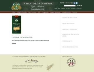 martinezfinecoffees.com screenshot