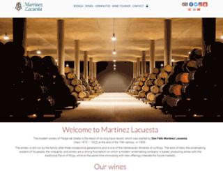 martinezlacuesta.com screenshot