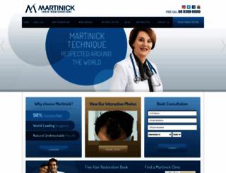 martinickhair.com.au screenshot